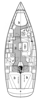 """Yachtcharteer Bavaria 39 cruiser """"Kastelet"""""""